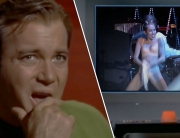 Captain Kirk watches MC VORSCHAUBILD