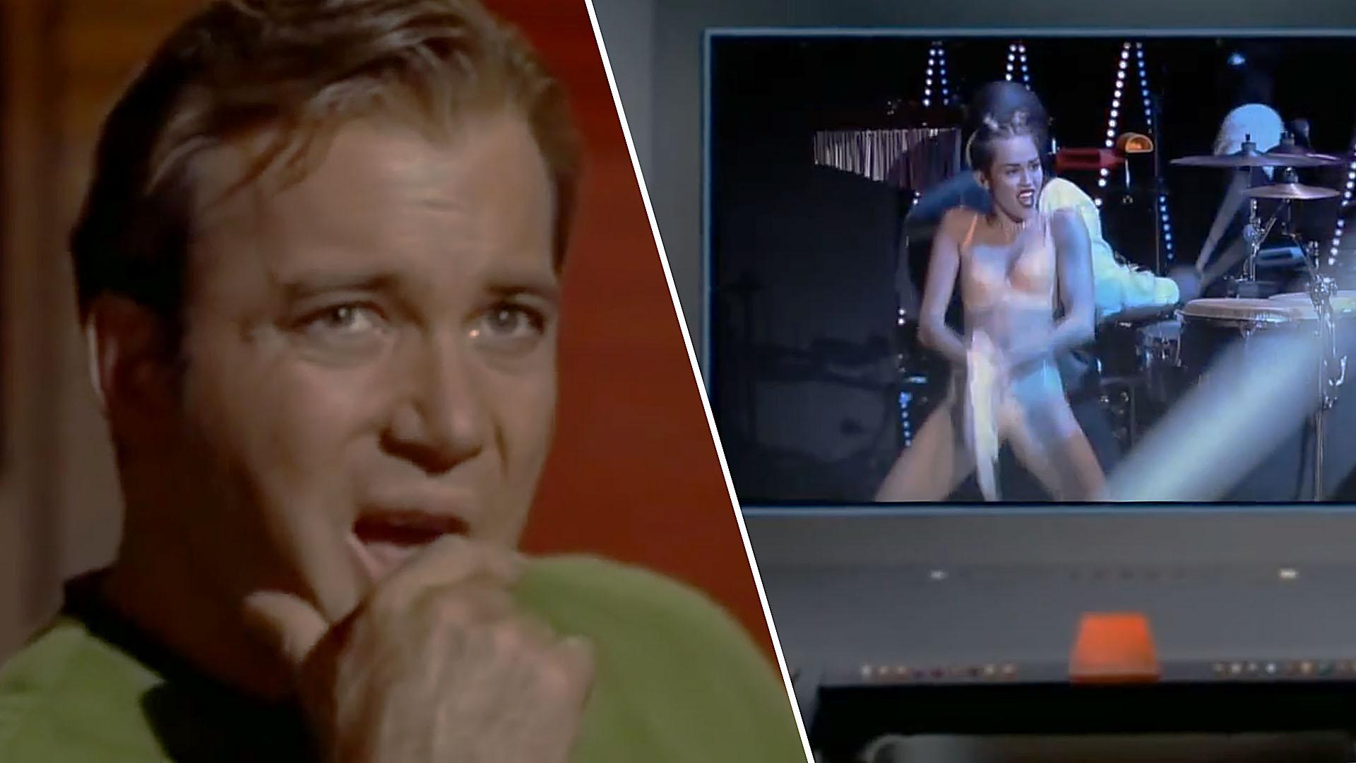 Captain Kirk watches MC VORSCHAUBILD